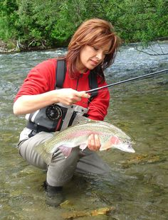 Mirjana Pavlic with another rainbow trout