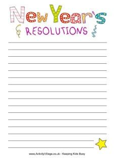 best new year resolution essay ideas english  new year resolutions essay new year resolutions paper for kids to print