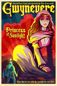 Dark Souls Poster - Gwynevere, Princess of Sunlight - 24x36 Print