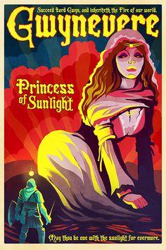 Dark Souls Poster - Gwynevere, Princess of Sunlight - 24x36 Print