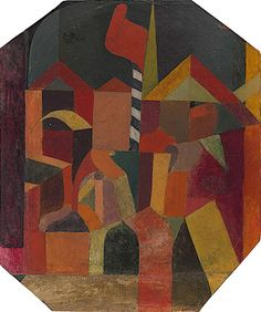 Paul Klee - Architecture with Red Flag - 1915