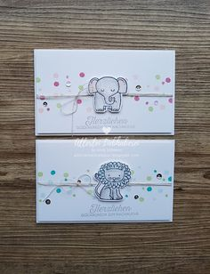Alle Arten von Hobby Source by Karten Diy, Envelope Art, New Baby Cards, 2nd Baby, Animal Cards, Baby Party, Kids Cards, Creative Cards, Stampin Up Cards