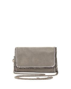Falabella Crossbody Bag, Light Gray by Stella McCartney at Neiman Marcus.