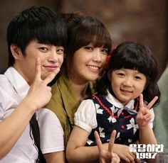 Reply 1997 Family Picture Yoon Jae Shi Won and their daughter