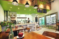 Limoni S Vienna Green Fruits Vegan Vegetarian Wood Facade Architecture Plants Design Bar Take Away