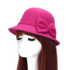 New Autumn and Winter Elegant Women's Fashion Cap Ladies bowknot Bucket Hat…