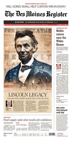 Lincoln's legacy, The Des Moines Register