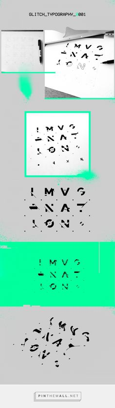 Imagination - Glitch_Typography_0001 on Behance - created via http://pinthemall.net
