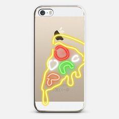 Neon Pizza Slice - Classic Grip Case