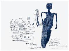 """MUSCLES OF RIGHT ORBIT'' By Jean Michel Basquiat"