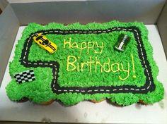 Cupcake Cake for a little boys birthday!