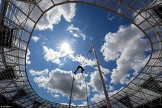 France's Renaud Lavillenie in the men's pole vault during the Anniversary Games at Queen Elizabeth Olympic Park, London, in July