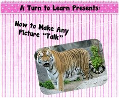 "How to Make Any Picture ""Talk!""  This is a quick way to make a lesson more engaging!"