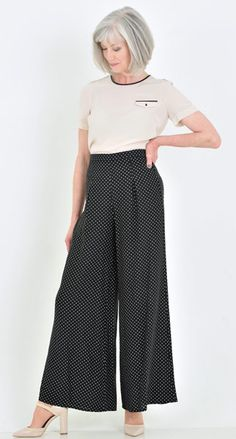 Palazzo pants are everywhere for summer. Just remember to keep your top simple to stay elegant