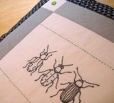 Beetle embroidery