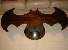 "The initial description said, ""The Batman Coffee Table is Simple and Refined""; two words that come to mind every time someone thinks, Batman. Movies Costumes, I Am Batman, Batman Stuff, Batman Room, Kids Batman, Superman, Tech Room, Nananana Batman, Creative Coffee"