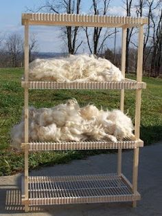 Cool fleece drying rack