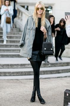#CarolineTrentini #offduty in Paris.