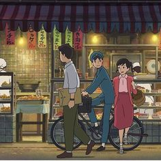 Studio ghibli,from up on poppy hill,hayao miyazaki Studio Ghibli Art, Studio Ghibli Movies, Hayao Miyazaki, Nausicaa, Up On Poppy Hill, Japanese Animated Movies, Japon Illustration, Girls Anime, Animation