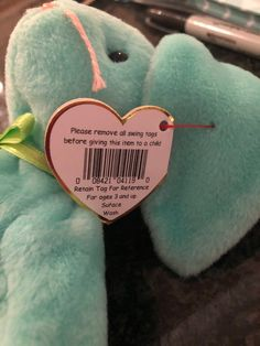 Hippity Beanie Baby With Very Rare Errors Mint Condition  5e7a22c60103