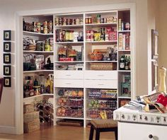 like the various heights of shelves as well as wire baskets and drawers. Wouldn't have pantry open-doors to close