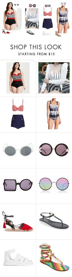 """albums beach day"" by dryingink ❤ liked on Polyvore featuring Torrid, Anfory, La Plage by Nicole Miller, Hot Topic, Wildfox, Topshop, Sunday Somewhere, Iris & Ink, Cole Haan and Dr. Martens"