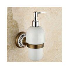 浴室ソープディスペンサーホルダー バスアクセサリー ブロンズ色 真鍮製