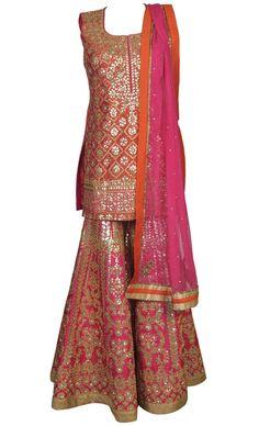 Gota Embellished Gharara Set