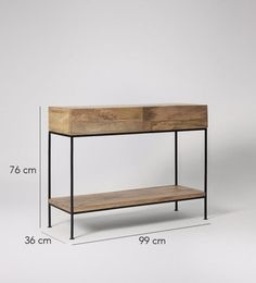 Pascal console table