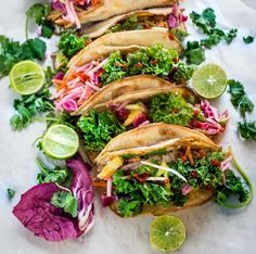 Tilapia & Kale Slaw Tacos #recipe via Life Made Sweeter http://www.yummly.com/recipe/Tilapia-and-Kale-Slaw-Tacos-1592323