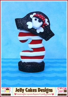 Pirate Boy Keepsake Cake Topper by jellycakesdesigns on Etsy, $15.00