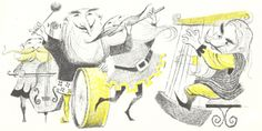"""1967 illustration by Robert J. Lee for """"An Unexpected Party"""" from 'The Hobbit' by J.R.R. Tolkein"""