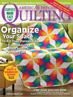 Super excited to have my quilt on the Cover of the February 2016 issue of American Patchwork & Quilting magazine! Photo used with permission from American Patchwork & Quilting® magazine. ©2015 Meredith Corporation. All rights reserved.