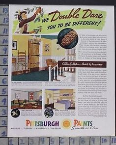 Pittsburgh Paints vintage Ad 1955 | Classics.... | Pinterest ...