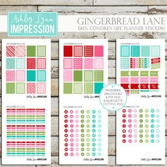 Gingerbread Lane Printable Planner by AshleyLynnImpression on Etsy