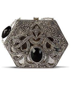 Women's Purses : Regina Clutch Bag by Meera Mahadevia - Fashion Inspire Vintage Purses, Vintage Bags, Vintage Handbags, Beaded Purses, Beaded Bags, Vanity Case, Moda Hippie, Hobo Style, Womens Purses