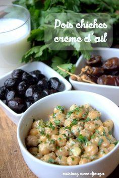 Pois chiches crème d'ail et persil