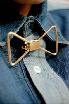 gold-bow. haha this is awesome. I obviously wouldn't wear it, but its so cool!