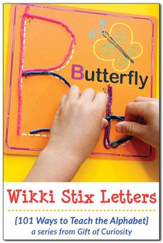 Wikki Stix are a great reuseable, no-mess tool for helping kids learn to write their letters. See how we use Wikki Stix to teach the alphabet to preschoolers! Kindergarten Special Education, Preschool Literacy, Preschool Ideas, Literacy Activities, Teaching Ideas, Autism Learning, Learning To Write, Kids Learning, Teaching The Alphabet