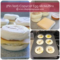 Copycat McDonalds Egg McMuffins- She even explains how to freeze them! Yum!