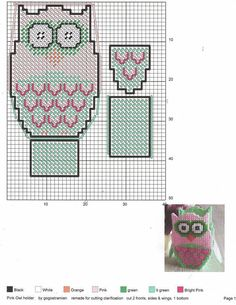 Owl Treat Boxes 5/8 Plastic Canvas Tissue Boxes, Plastic Canvas Crafts, Plastic Canvas Patterns, Owl Treats, Owl Box, Owl Canvas, Owl Patterns, Canvas Designs, Tissue Box Covers