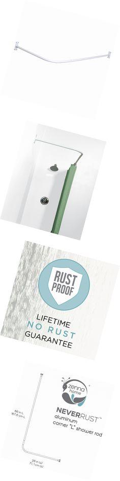 Shower Curtain Rods 168132 Aluminum L Shaped Corner Shower