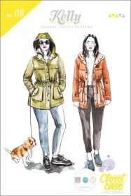 Kelly Anorak Jacket sewing pattern from Closet Case Patterns. Style meets function with the Kelly Anorak; a classic shape with a modern cut, this simple coat is the perfect choice for transitional weather. Coat Patterns, Clothing Patterns, Sewing Patterns, Sewing Ideas, Sewing Tips, Sewing Lessons, Sewing Stitches, Vogue Patterns, Vintage Patterns