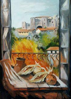 Una finestra su Melfi...acrilico