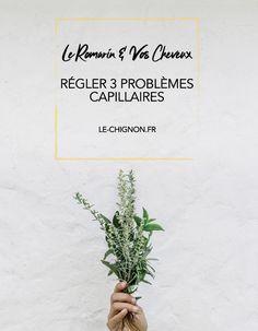 Le romarin & vos cheveux : pour régler 3 problèmes capillaires Letter Board, Lettering, Hair Loss, Grasses, Calligraphy, Letters, Character