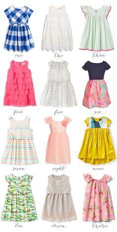 Twelve Spring Dresses for Girls | Thrifty Littles Blog