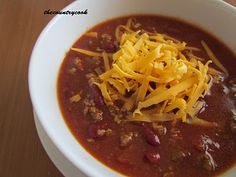 The Country Cook: Slow Cooker Chili and Sweet Southern Cornbread