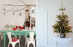 I'm really into Scandinavian-inspired decor right now.  Check out some of these Christmas accents!