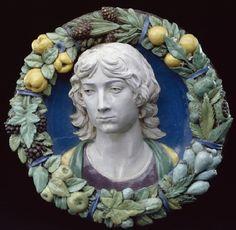 Andrea della Robbia, Head of a youth (Firenze, ca. 1500, Detroit Institute of Art).