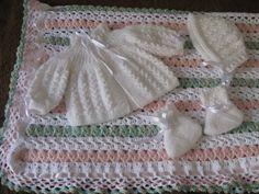 gráfico de manta de tricô para bebê menina